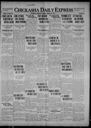 Primary view of object titled 'Chickasha Daily Express (Chickasha, Okla.), Vol. 22, No. 24, Ed. 1 Friday, January 28, 1921'.