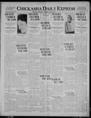 Primary view of object titled 'Chickasha Daily Express (Chickasha, Okla.), Vol. 21, No. 147, Ed. 1 Saturday, June 19, 1920'.