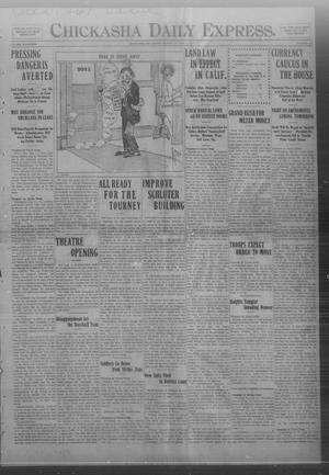 Primary view of object titled 'Chickasha Daily Express. (Chickasha, Okla.), Vol. FOURTEEN, No. 191, Ed. 1 Monday, August 11, 1913'.
