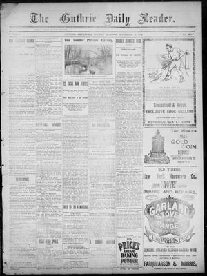 Primary view of object titled 'The Guthrie Daily Leader. (Guthrie, Okla.), Vol. 3, No. 269, Ed. 1, Sunday, November 11, 1894'.