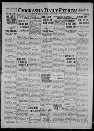 Primary view of object titled 'Chickasha Daily Express (Chickasha, Okla.), Vol. 22, No. 36, Ed. 1 Friday, February 11, 1921'.