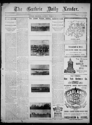 Primary view of object titled 'The Guthrie Daily Leader. (Guthrie, Okla.), Vol. 3, No. 274, Ed. 1, Saturday, November 17, 1894'.