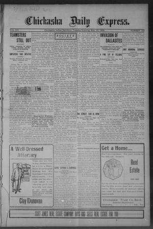 Primary view of object titled 'Chickasha Daily Express. (Chickasha, Indian Terr.), Vol. 14, No. 122, Ed. 1 Tuesday, May 23, 1905'.