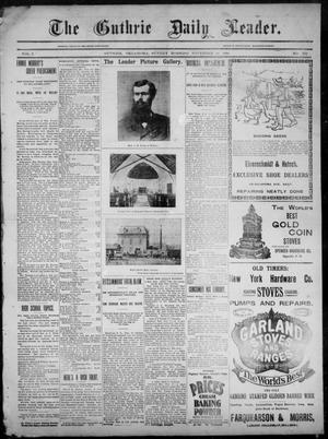 Primary view of object titled 'The Guthrie Daily Leader. (Guthrie, Okla.), Vol. 3, No. 275, Ed. 1, Sunday, November 18, 1894'.