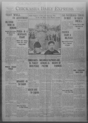 Primary view of object titled 'Chickasha Daily Express. (Chickasha, Okla.), Vol. TWELVE, No. 280, Ed. 1 Friday, December 1, 1911'.