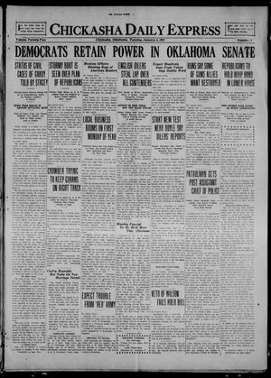 Primary view of object titled 'Chickasha Daily Express (Chickasha, Okla.), Vol. 22, No. 3, Ed. 1 Tuesday, January 4, 1921'.