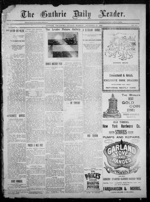 Primary view of object titled 'The Guthrie Daily Leader. (Guthrie, Okla.), Vol. 3, No. 281, Ed. 1, Sunday, November 25, 1894'.