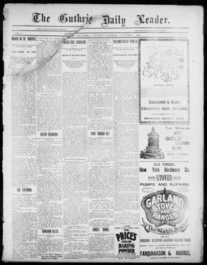 Primary view of object titled 'The Guthrie Daily Leader. (Guthrie, Okla.), Vol. 3, No. 285, Ed. 1, Saturday, December 1, 1894'.