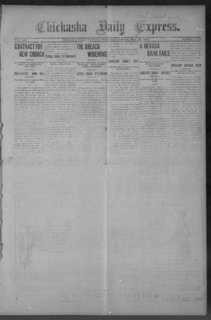 Primary view of object titled 'Chickasha Daily Express. (Chickasha, Indian Terr.), Vol. 14, No. 123, Ed. 1 Wednesday, May 24, 1905'.