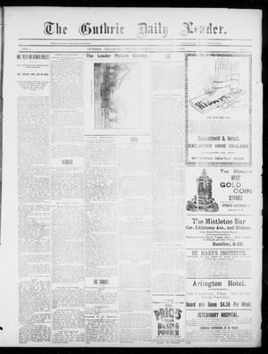 Primary view of object titled 'The Guthrie Daily Leader. (Guthrie, Okla.), Vol. 3, No. 6, Ed. 1, Friday, December 7, 1894'.