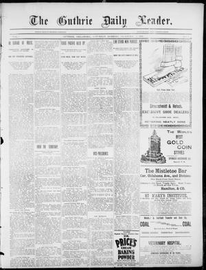 Primary view of object titled 'The Guthrie Daily Leader. (Guthrie, Okla.), Vol. 3, No. 7, Ed. 1, Saturday, December 8, 1894'.
