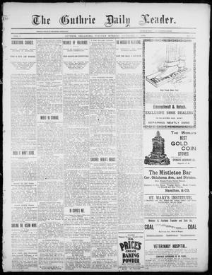 Primary view of object titled 'The Guthrie Daily Leader. (Guthrie, Okla.), Vol. 3, No. 9, Ed. 1, Tuesday, December 11, 1894'.
