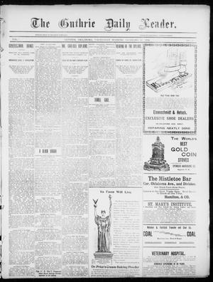 Primary view of object titled 'The Guthrie Daily Leader. (Guthrie, Okla.), Vol. 3, No. 10, Ed. 1, Wednesday, December 12, 1894'.