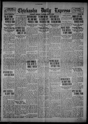 Primary view of object titled 'Chickasha Daily Express (Chickasha, Okla.), Vol. 22, No. 281, Ed. 1 Wednesday, March 15, 1922'.