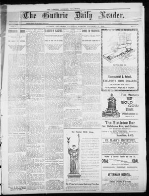 Primary view of object titled 'The Guthrie Daily Leader. (Guthrie, Okla.), Vol. 3, No. 11, Ed. 1, Thursday, December 13, 1894'.