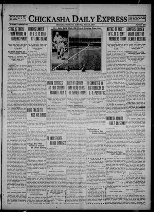 Primary view of object titled 'Chickasha Daily Express (Chickasha, Okla.), Vol. 22, No. 151, Ed. 1 Saturday, June 25, 1921'.