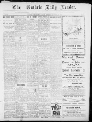Primary view of object titled 'The Guthrie Daily Leader. (Guthrie, Okla.), Vol. 5, No. 14, Ed. 1, Sunday, December 16, 1894'.