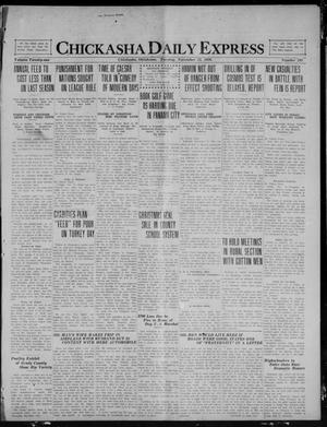 Primary view of object titled 'Chickasha Daily Express (Chickasha, Okla.), Vol. 21, No. 280, Ed. 1 Tuesday, November 23, 1920'.