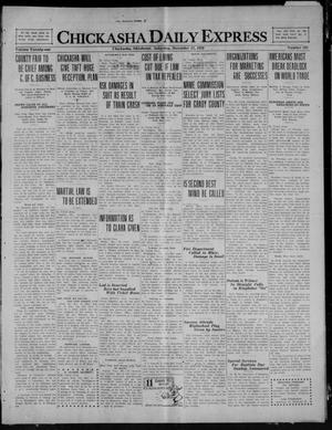 Primary view of object titled 'Chickasha Daily Express (Chickasha, Okla.), Vol. 21, No. 295, Ed. 1 Saturday, December 11, 1920'.