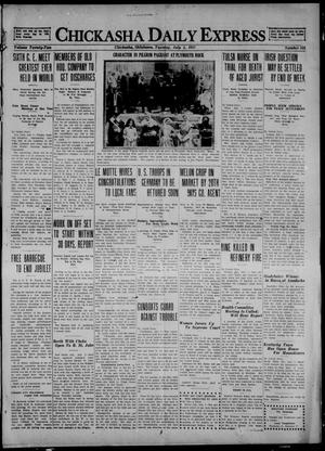 Primary view of object titled 'Chickasha Daily Express (Chickasha, Okla.), Vol. 22, No. 158, Ed. 1 Tuesday, July 5, 1921'.