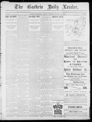 Primary view of object titled 'The Guthrie Daily Leader. (Guthrie, Okla.), Vol. 5, No. 21, Ed. 1, Tuesday, December 25, 1894'.