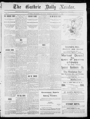 Primary view of object titled 'The Guthrie Daily Leader. (Guthrie, Okla.), Vol. 5, No. 22, Ed. 1, Thursday, December 27, 1894'.