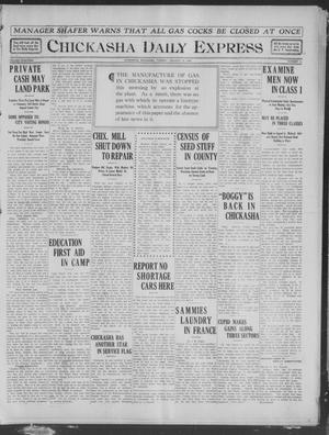 Primary view of object titled 'Chickasha Daily Express (Chickasha, Okla.), Vol. 19, No. 19, Ed. 1 Tuesday, January 22, 1918'.