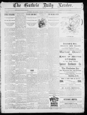 Primary view of object titled 'The Guthrie Daily Leader. (Guthrie, Okla.), Vol. 5, No. 23, Ed. 1, Friday, December 28, 1894'.