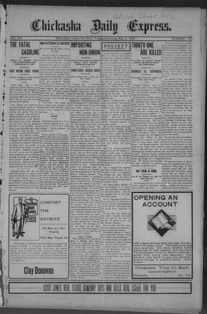 Primary view of object titled 'Chickasha Daily Express. (Chickasha, Indian Terr.), Vol. 14, No. 104, Ed. 1 Tuesday, May 2, 1905'.