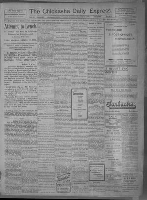 Primary view of object titled 'The Chickasha Daily Express (Chickasha, Indian Terr.), Vol. 10, No. 205, Ed. 1 Saturday, September 7, 1901'.
