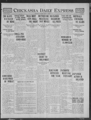 Primary view of object titled 'Chickasha Daily Express (Chickasha, Okla.), Vol. 19, No. 57, Ed. 1 Thursday, March 7, 1918'.