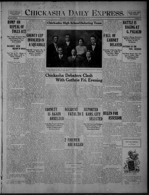 Primary view of object titled 'Chickasha Daily Express. (Chickasha, Okla.), Vol. FIFTEEN, No. 73, Ed. 1 Thursday, March 26, 1914'.