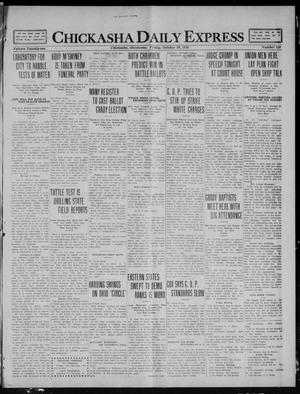 Chickasha Daily Express (Chickasha, Okla.), Vol. 21, No. 259, Ed. 1 Friday, October 29, 1920