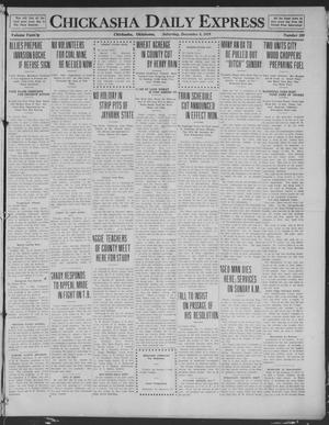 Primary view of object titled 'Chickasha Daily Express (Chickasha, Okla.), Vol. 20, No. 289, Ed. 1 Saturday, December 6, 1919'.
