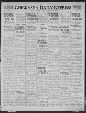Primary view of object titled 'Chickasha Daily Express (Chickasha, Okla.), Vol. 20, No. 216, Ed. 1 Thursday, September 11, 1919'.