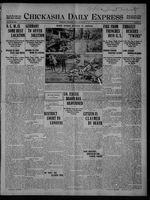 Primary view of object titled 'Chickasha Daily Express (Chickasha, Okla.), Vol. SIXTEEN, No. 251, Ed. 1 Friday, September 17, 1915'.