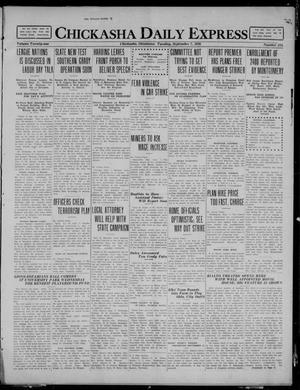 Primary view of object titled 'Chickasha Daily Express (Chickasha, Okla.), Vol. 21, No. 214, Ed. 1 Tuesday, September 7, 1920'.