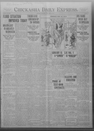 Primary view of object titled 'Chickasha Daily Express. (Chickasha, Okla.), Vol. FOURTEEN, No. 75, Ed. 1 Friday, March 28, 1913'.
