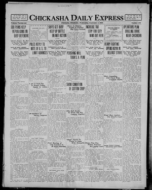 Primary view of object titled 'Chickasha Daily Express (Chickasha, Okla.), Vol. 21, No. 210, Ed. 1 Wednesday, September 1, 1920'.