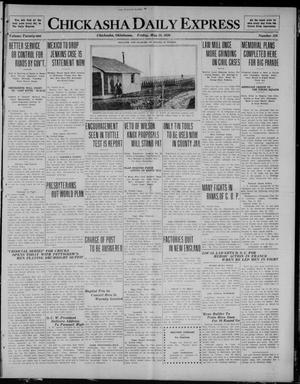 Primary view of object titled 'Chickasha Daily Express (Chickasha, Okla.), Vol. 21, No. 128, Ed. 1 Friday, May 28, 1920'.