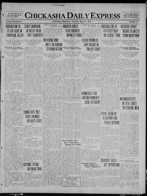 Primary view of object titled 'Chickasha Daily Express (Chickasha, Okla.), Vol. 21, No. 53, Ed. 1 Tuesday, March 2, 1920'.