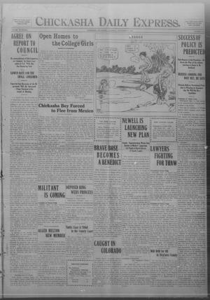 Primary view of object titled 'Chickasha Daily Express. (Chickasha, Okla.), Vol. FOURTEEN, No. 211, Ed. 1 Thursday, September 4, 1913'.