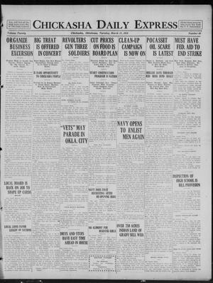 Primary view of object titled 'Chickasha Daily Express (Chickasha, Okla.), Vol. 20, No. 60, Ed. 1 Tuesday, March 11, 1919'.