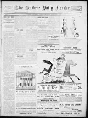 Primary view of object titled 'The Guthrie Daily Leader. (Guthrie, Okla.), Vol. 5, No. 57, Ed. 1, Thursday, February 7, 1895'.