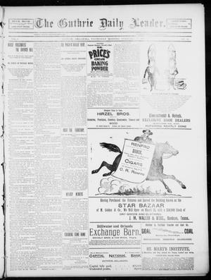 Primary view of object titled 'The Guthrie Daily Leader. (Guthrie, Okla.), Vol. 5, No. 62, Ed. 1, Wednesday, February 13, 1895'.