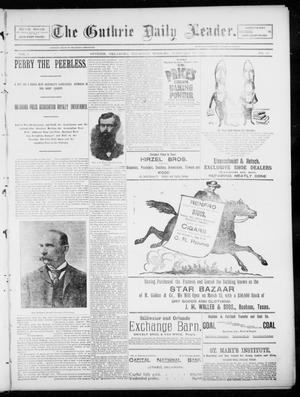 Primary view of object titled 'The Guthrie Daily Leader. (Guthrie, Okla.), Vol. 5, No. 63, Ed. 1, Thursday, February 14, 1895'.