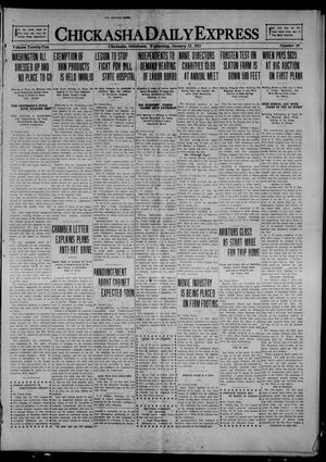 Primary view of object titled 'Chickasha Daily Express (Chickasha, Okla.), Vol. 22, No. 10, Ed. 1 Wednesday, January 12, 1921'.