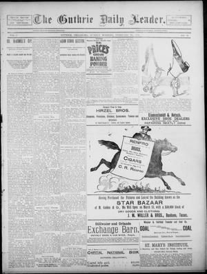 Primary view of object titled 'The Guthrie Daily Leader. (Guthrie, Okla.), Vol. 5, No. 71, Ed. 1, Sunday, February 24, 1895'.