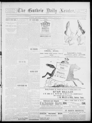 Primary view of object titled 'The Guthrie Daily Leader. (Guthrie, Okla.), Vol. 5, No. 72, Ed. 1, Tuesday, February 26, 1895'.
