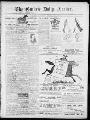 Primary view of object titled 'The Guthrie Daily Leader. (Guthrie, Okla.), Vol. 5, No. 76, Ed. 1, Saturday, March 2, 1895'.